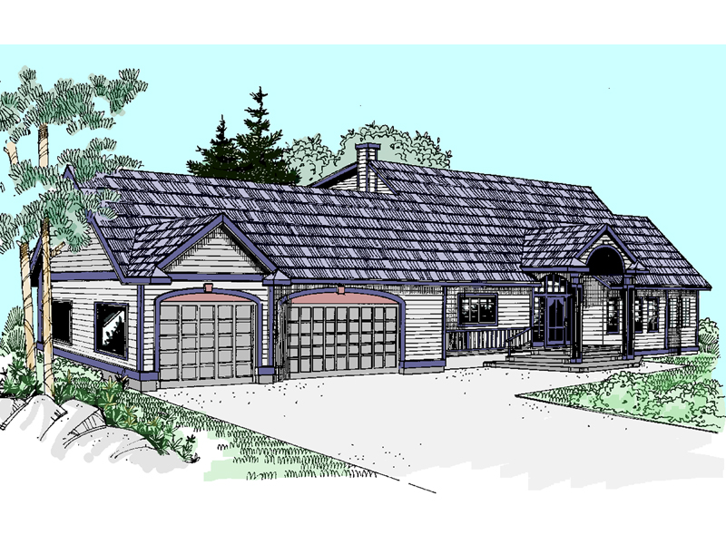 Craftsman House Plan Front of Home - 085D-0522 | House Plans and More