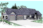 Contemporary House Plan Front of Home - 085D-0522 | House Plans and More