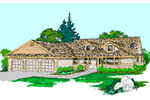 Country House Plan Front of Home - 085D-0523 | House Plans and More