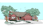 Ranch House Plan Front of Home - 085D-0525 | House Plans and More