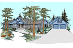 Craftsman House Plan Front of Home - 085D-0526 | House Plans and More