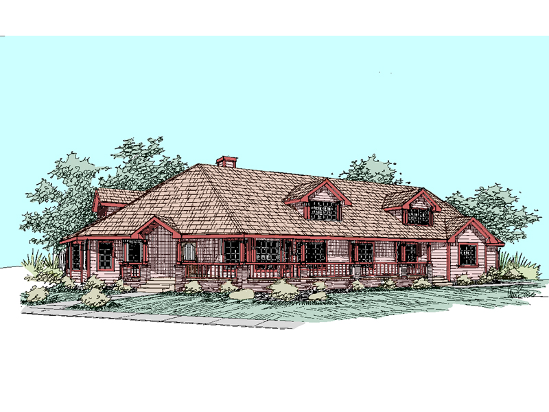 Ranch House Plan Front of Home - 085D-0527 | House Plans and More