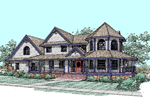 Victorian House Plan Front of Home - 085D-0529 | House Plans and More