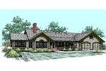 Tudor House Plan Front of Home - 085D-0531 | House Plans and More