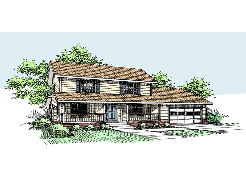 Traditional House Plan Front of Home - 085D-0532 | House Plans and More