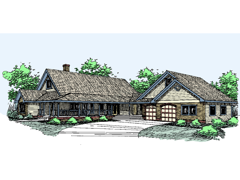 Ranch House Plan Front of Home - 085D-0533 | House Plans and More