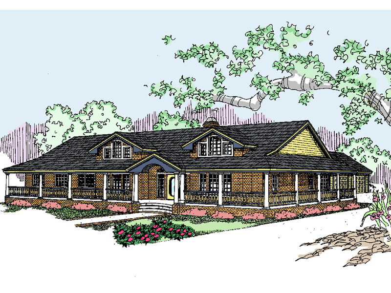 Traditional House Plan Front of Home - 085D-0534 | House Plans and More