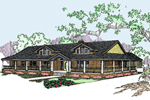 Lake House Plan Front of Home - 085D-0534 | House Plans and More