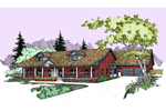 Ranch House Plan Front of Home - 085D-0535 | House Plans and More