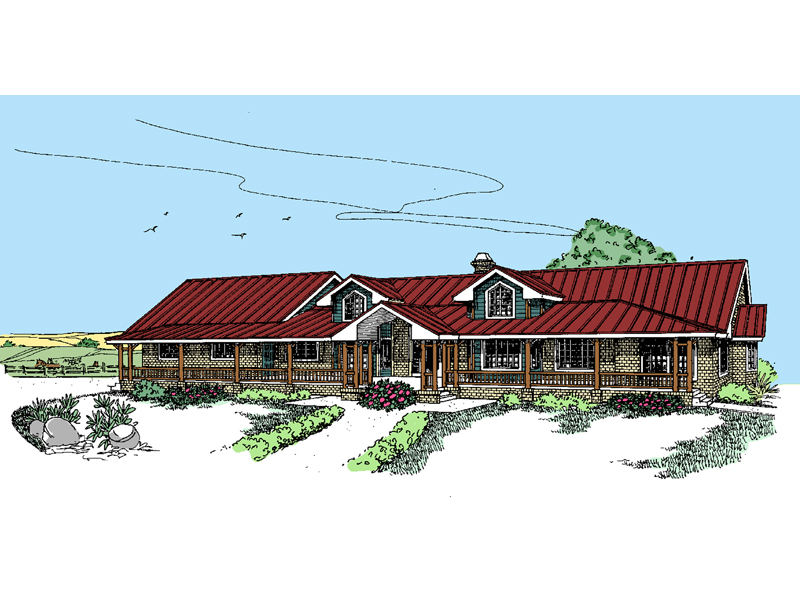 Ranch House Plan Front of Home - 085D-0536 | House Plans and More
