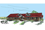 Country House Plan Front of Home - 085D-0536 | House Plans and More