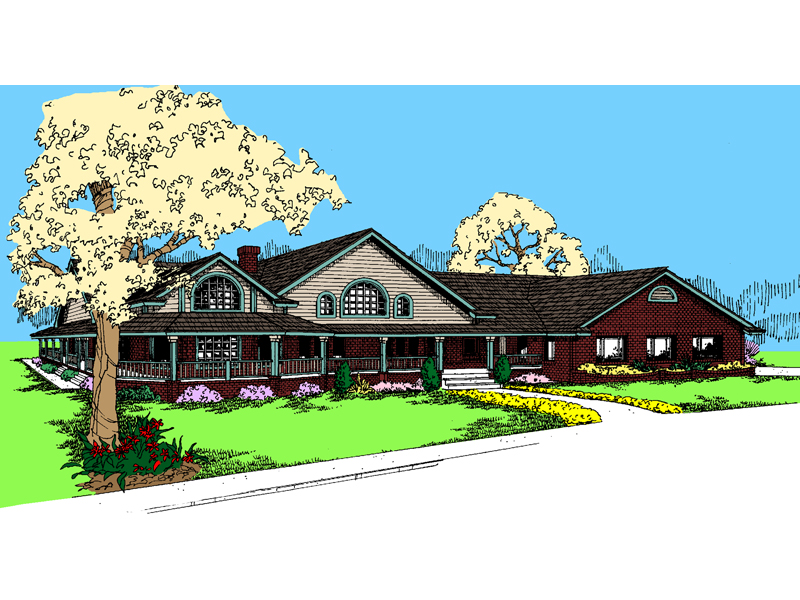 Farmhouse Plan Front of Home - 085D-0537 | House Plans and More