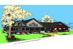 Ranch House Plan Front of Home - 085D-0537 | House Plans and More