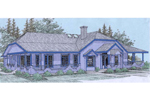Ranch House Plan Front of Home - 085D-0538 | House Plans and More