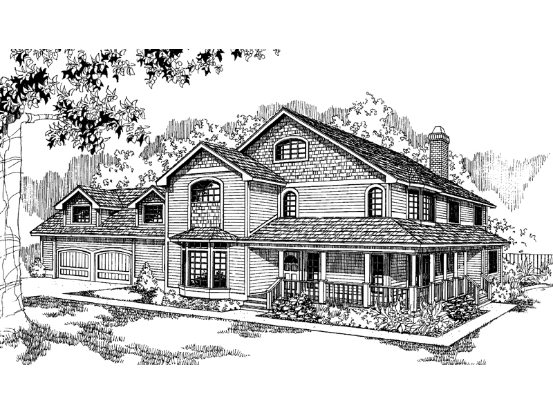 Craftsman House Plan Front of Home - 085D-0539 | House Plans and More