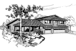 Mountain Home Plan Front of Home - 085D-0540 | House Plans and More