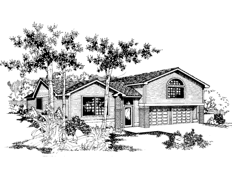 Ranch House Plan Front of Home - 085D-0541 | House Plans and More