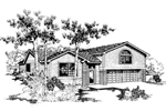 Contemporary House Plan Front of Home - 085D-0541 | House Plans and More
