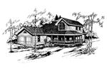 Farmhouse Plan Front of Home - 085D-0542 | House Plans and More