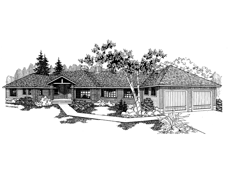 Traditional House Plan Front of Home - 085D-0544 | House Plans and More