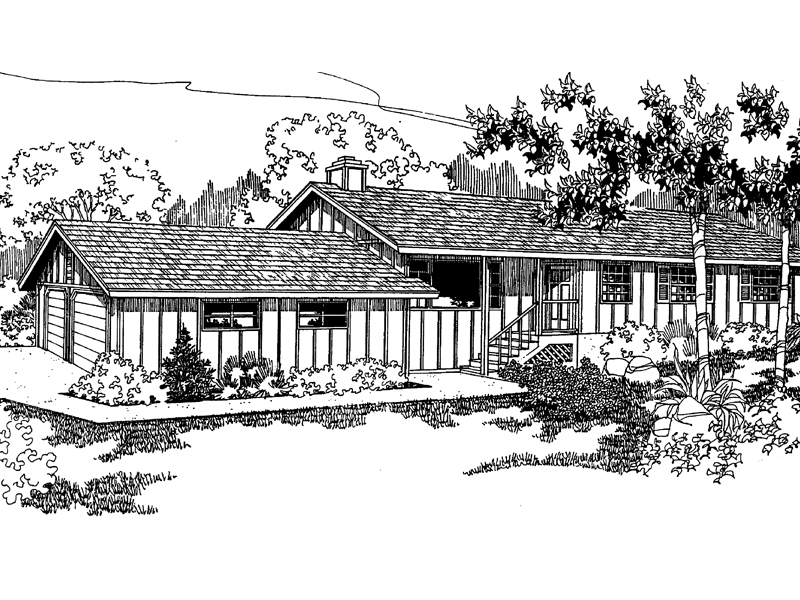 Country House Plan Front of Home - 085D-0545 | House Plans and More
