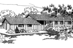 Ranch House Plan Front of Home - 085D-0545 | House Plans and More