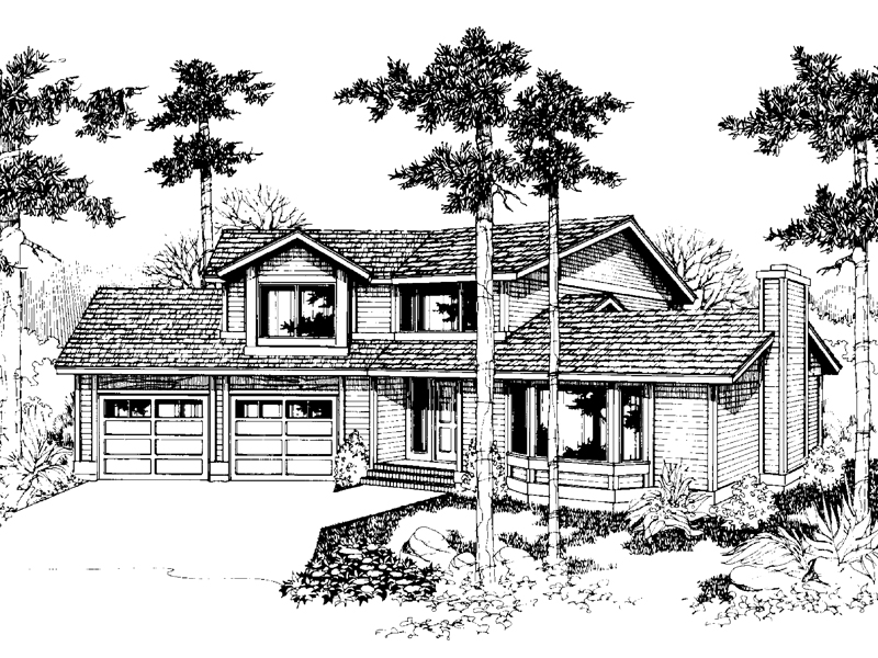 Contemporary House Plan Front of Home - 085D-0546 | House Plans and More