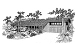 Mountain Home Plan Front of Home - 085D-0547 | House Plans and More
