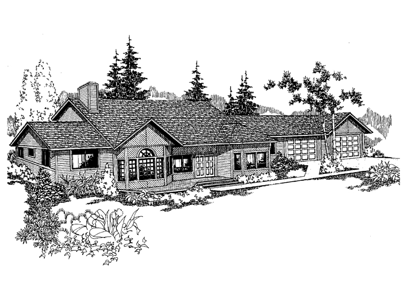 Traditional House Plan Front of Home - 085D-0548 | House Plans and More