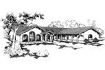 Spanish House Plan Front of Home - 085D-0549 | House Plans and More