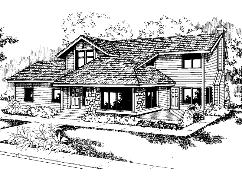 Craftsman House Plan Front of Home - 085D-0550 | House Plans and More