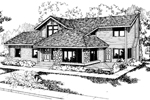 Country House Plan Front of Home - 085D-0550 | House Plans and More