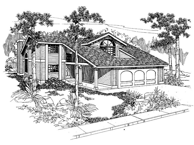 Tudor House Plan Front of Home - 085D-0551 | House Plans and More