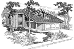 Contemporary House Plan Front of Home - 085D-0551 | House Plans and More