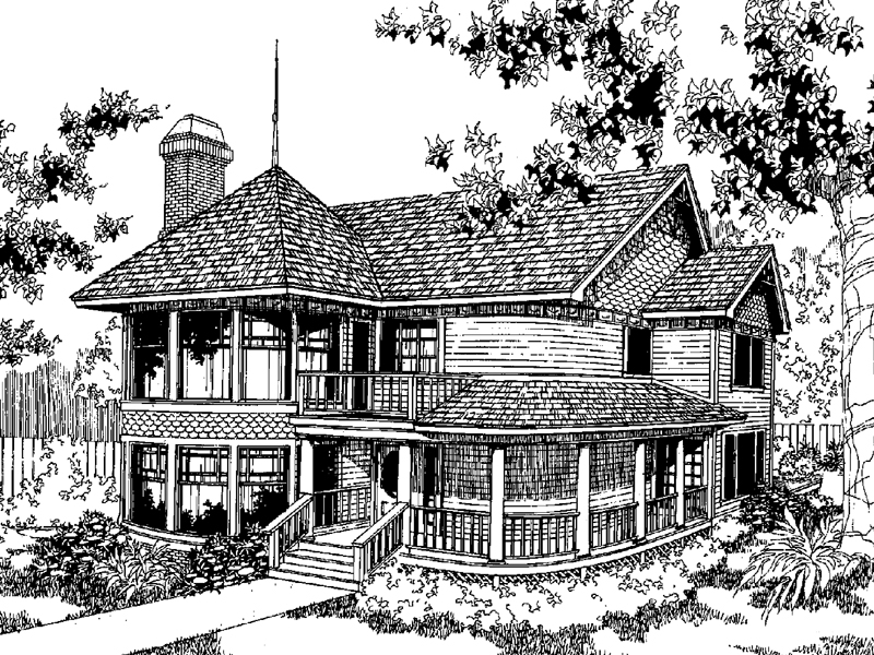 Victorian House Plan Front of Home - 085D-0552 | House Plans and More