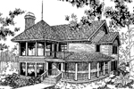 Country House Plan Front of Home - 085D-0552 | House Plans and More