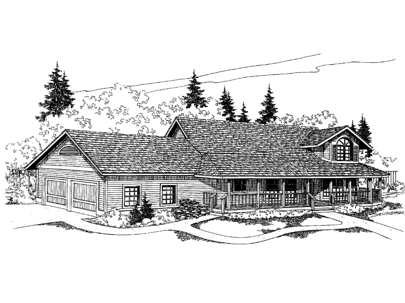 Country House Plan Front of Home - 085D-0553 | House Plans and More