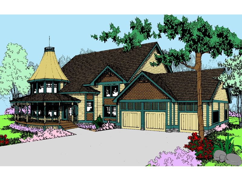 Victorian House Plan Front of Home - 085D-0554 | House Plans and More