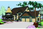 Luxury House Plan Front of Home - 085D-0554 | House Plans and More