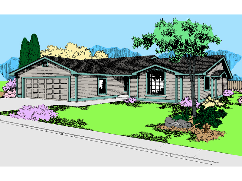 Ranch House Plan Front of Home - 085D-0555 | House Plans and More