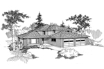 Traditional House Plan Front of Home - 085D-0556 | House Plans and More