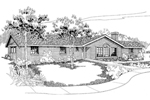 Ranch House Plan Front of Home - 085D-0557 | House Plans and More