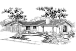 Florida House Plan Front of Home - 085D-0558 | House Plans and More