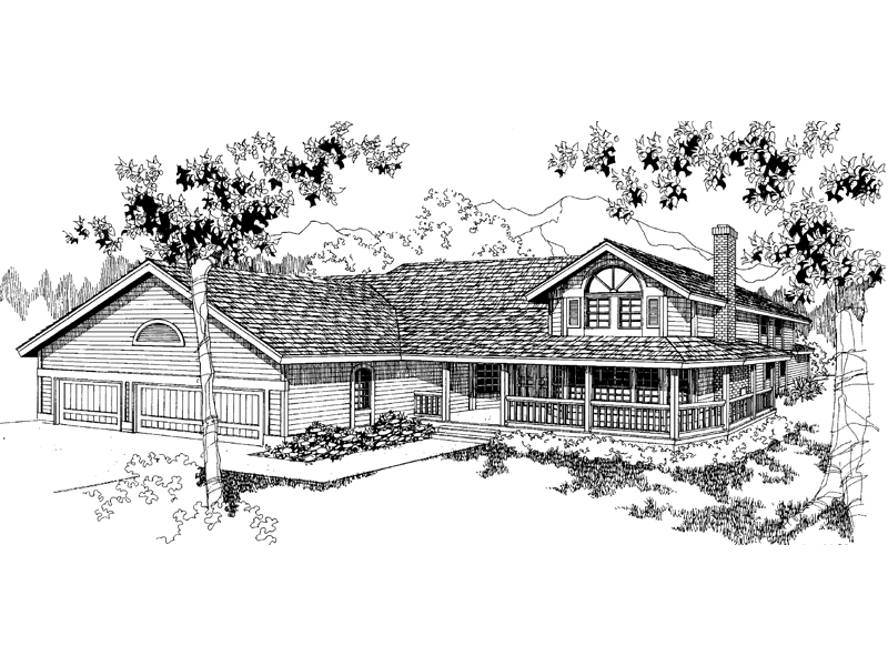 Farmhouse Home Plan Front of Home - 085D-0559 | House Plans and More
