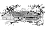 Country House Plan Front of Home - 085D-0559 | House Plans and More