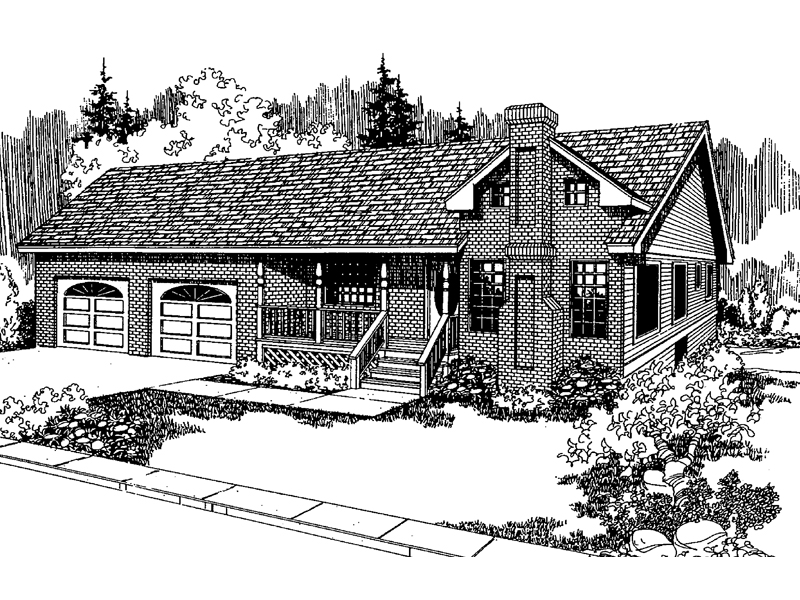 Ranch House Plan Front of Home - 085D-0560 | House Plans and More