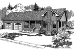 Contemporary House Plan Front of Home - 085D-0560 | House Plans and More