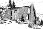 Cabin and Cottage Plan Front of Home - 085D-0563 | House Plans and More