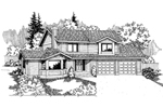 Country House Plan Front of Home - 085D-0564 | House Plans and More