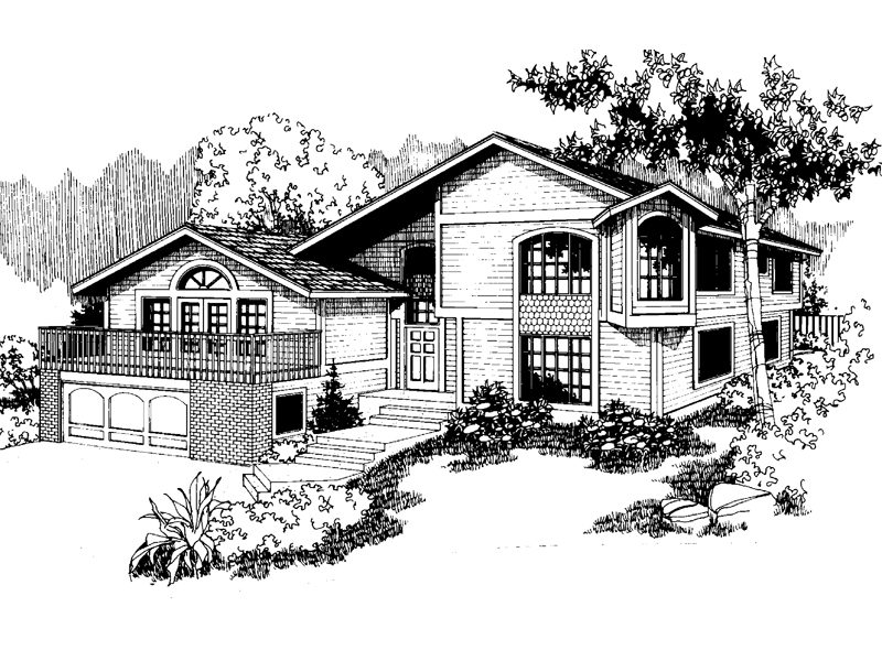 Contemporary House Plan Front of Home - 085D-0565 | House Plans and More